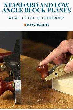 Is there a difference between a low-angle and standard block plane? Join the conversation here! #CreateWithConfidence #Standard #LowAngle #BlockPlane #LearnWithRockler Rockler Woodworking, Woodworking Hand Tools, Beginner Woodworking Projects, Power To The People, Low Angle, Wood Working For Beginners, The Good Old Days, Different, Angles