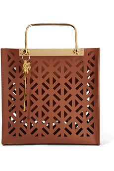Sophie Hulme Dora laser-cut leather tote bag | THE OUTNET