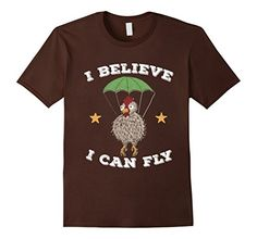 Men's Believe Can FLy Chicken Shirts-Chicken Gift Tee Shirts Navy