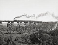 Iowa,1900.Chicago & North Western Railway viaduct over Des Moines River,Boone. Vintage Iowa art print.Steam Train,Steam Locomotive,Railroad. by Chromatone on Etsy https://www.etsy.com/listing/155075484/iowa1900chicago-north-western-railway