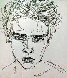 Immagine di art, boy, and drawing