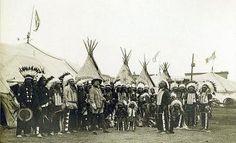 La visita a Barcelona de Buffallo Bill con indios y vaqueros