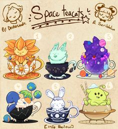 Space themed Teacat -Collab [closed] by scribblin
