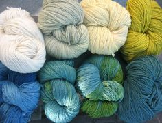 On my needles now...hand dyed Turkish wool from Ikonium Studios, Istanbul