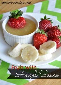 Fruit sauce Tasty Tuesday: Fruit with Angel Sauce