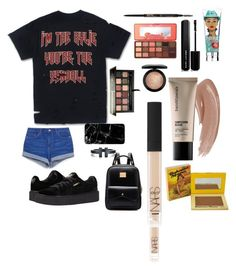 """Untitled #3"" by trendmood on Polyvore featuring Puma, Tiffany & Co., Anastasia Beverly Hills, Benefit, NARS Cosmetics, TheBalm, Too Faced Cosmetics, Bare Escentuals, MAC Cosmetics and Marc Jacobs"