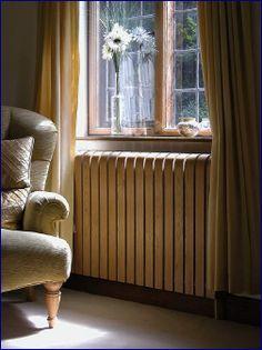 Oak radiator cover.