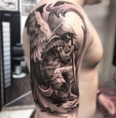 Znalezione obrazy dla zapytania saint michael archangel tattoo