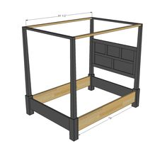 Ana White   Build a Dawsen Canopy or Poster Bed - Queen   Free and Easy DIY Project and Furniture Plans