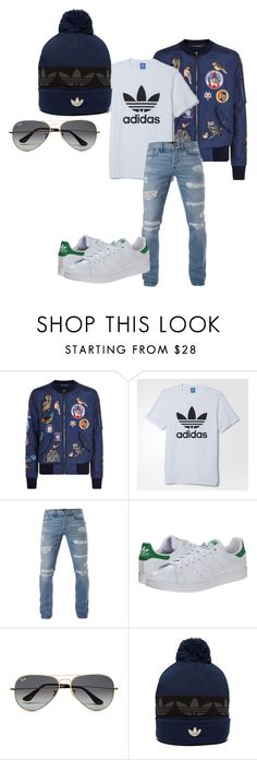 """Sem título #412"" by alessandra-guimaraes on Polyvore featuring Dolce&Gabbana, adidas, 3x1, adidas Originals, Ray-Ban, men's fashion e menswear"