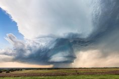 """My favorite image from last chase season """"Hico Supercell V3"""". A wrapped up supercell moving slowly across the Plains of Central Texas went on to produce several tornados and baseball sized hail. Please share! #stormchasing #supercell #weather"""