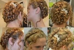 Quick and easy braids look great on any texture hair for fun or formal occasions! :-)