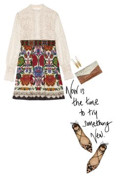 """""""try something new"""" by michellenorris ❤ liked on Polyvore featuring Anna Sui, J. Mendel, Salvatore Ferragamo, women's clothing, women, female, woman, misses and juniors"""