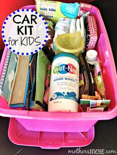 DIY Car Kit For Kids {Prepared for the Messes} - Mother's Niche