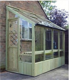 Gardener: A Sliver of a Greenhouse for a Small Space Neat Little Greenhouse! This would look nice off the side of the garden shed.Neat Little Greenhouse! This would look nice off the side of the garden shed. Lean To Greenhouse, Greenhouse Gardening, Greenhouse Ideas, Outdoor Greenhouse, Cheap Greenhouse, Diy Small Greenhouse, Pallet Greenhouse, Greenhouse Benches, Pallets Garden