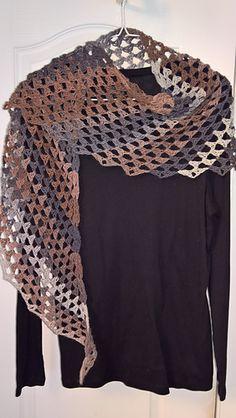 Vagabond - free asymmetric crochet shawl pattern by PurpleIguana.