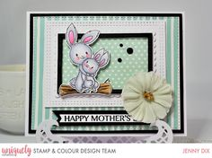 JenniferD's Blog: Uniquely Creative - Mothers Day Color Kit, Colour, Jennifer Mcguire Ink, April Challenge, Magnolia Design, Hey Mama, Pearl And Lace, Love Craft, Valentine Day Love