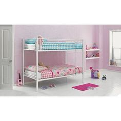 Metal White Shorty Bunk Bed & Storage with Charley Mattress. from Homebase.co.uk