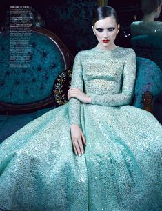 Lily Donaldson for W Magazine, January 2012. Photographed by Emma Summerton and styled by Edward Enninful.