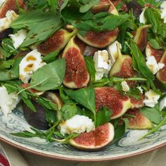 Figs with young pecorino and honey - watch Yotam and Sami prepare this dish during their Facebook Live broadcast: https://www.facebook.com/OttolenghiUK/videos/1301023039917574/