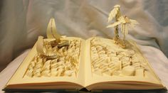 Aloha Means Goodbye - Sculpted Stories Emerge from the Pages of Books by http://www.jodiharvey-brown.com