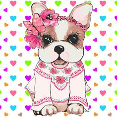 Simones mini Cute Puppies, Cute Dogs, Pink Panter, Decoupage, Puppy Images, Puppy Party, Cute Teddy Bears, Illustrations, Dog Art
