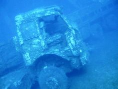 The Zenobia, Cyprus is often referred to as one of the best wreck dives in the world. Take a look at this truck that you can find while scuba diving there.