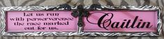 Hot Pink Personalized Plaque with Cross #personalizedsignwithquote