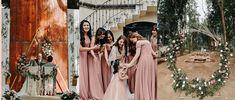 A Rustic-Boho Wedding in a Quaint Forest Barn Laid Back Wedding, Wedding Day, Badgley Mischka Bridal, Rustic Boho Wedding, Bridal Robes, Bridesmaid Dresses, Wedding Dresses, Celebrity Weddings, Wedding Venues