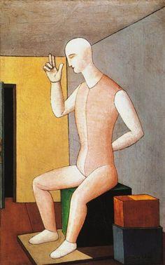 Carlo Carrà - L'idolo ermafrodito 1917