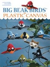 So cute! Big Beak Birds in Plastic Canvas—No matter what the weather, these birds will hang around all year long!