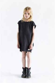 Black shift and boots, score!  #estella #kids #fashion #designer