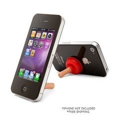 Plunger Stand for your iPhone at 1CrazyDeal.com $1.00 Free Shipping
