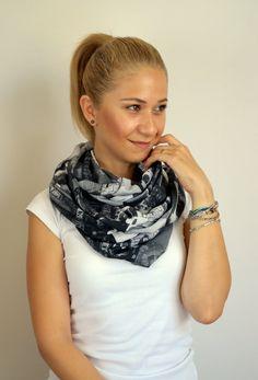 Infinity scarf loop scarf chiffon scarf by ChamomileAccessories