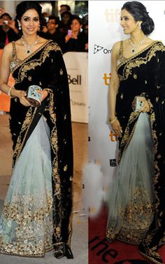 SriDevi Style Saree | For More collection of #Celebrity #Saree #Collection @ www.prafful.com