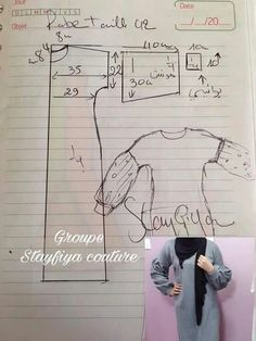 Abaya for mama saraDiscover thousands of images about Abaya ctieshasha Easy Sewing Patterns, Sewing Tutorials, Sewing Tips, Blouse Patterns, Clothing Patterns, Abaya Pattern, Recycle Old Clothes, Sewing Blouses, Sewing Lessons