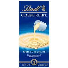 Lindt Classic Recipes White Chocolate, 4.4-Ounce Packages (Pack of 12)