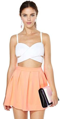 Nasty Gal Scuba Skater Skirt on shopstyle.com