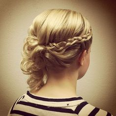 braided updo for fine hair