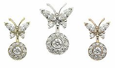 18K Butterfly Ice Pave by #VenusByMariaTash #Bodyjewelry | Available in White, Yellow and Rose Gold at www.venusbymariatash.com