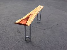 Live Edge Console Table // Redwood // Handmade Steel by MezWorks
