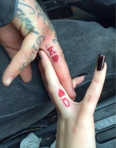 K&Q, his and hers tattoo