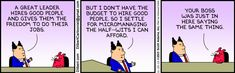 The Dilbert Strip for November 23, 2013 - Great Leader