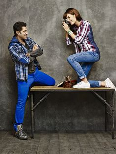 Salman Khan featuring in Being Human Clothing's Campaign to get more hd and… Salman Khan Photo, Aamir Khan, Being Human Clothing, Couple Photoshoot Poses, Fashion Couple, Men's Fashion, Handsome Actors, Bollywood Stars, Indian Bollywood