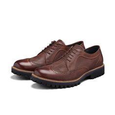 06ee59aefd Sapato Brogue Elié 100% Couro com solado em Borracha Tratorada Tadmor Marrom