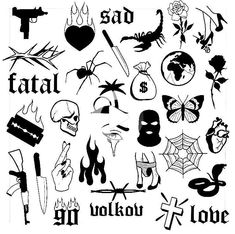 These are gonna be some of my first tattoos Flash Art Tattoos, Dope Tattoos, Mini Tattoos, Body Art Tattoos, New Tattoos, Small Tattoos, Tattoos For Guys, Ship Tattoos, Gangsta Tattoos