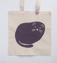 cat loaf tote bag cat lover by exit343design on Etsy
