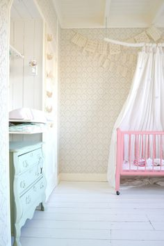 pastel colors in a girl's nursery