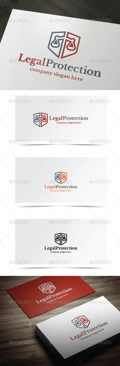 Legal Protection - Symbols Logo Templates