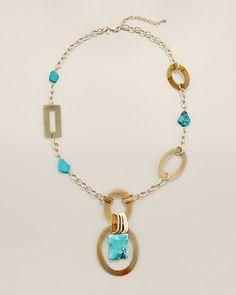 Chico's: Skye Long Pendant Necklace $69.00